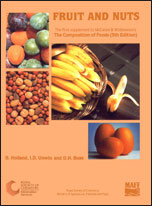 Fruit and Nuts: Supplement to The Composition of Foods