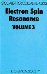 Electron Spin Resonance: Volume 3