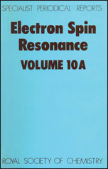 Electron Spin Resonance: Volume 10A