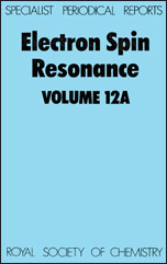 Electron Spin Resonance: Volume 12A