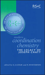 Modern Coordination Chemistry: The Legacy of Joseph Chatt