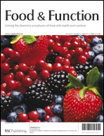 Journal cover: Food & Function