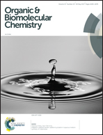 Journal cover: Organic & Biomolecular Chemistry